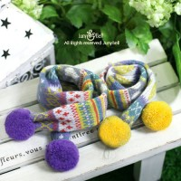 Brandy - Yellow&Violet, , 2150 руб., Brandy - Yellow&Violet, Juny Bell , Шапки и шарфы